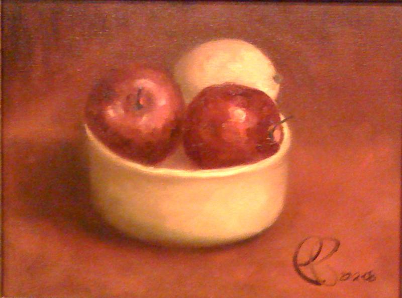 Yellow Bowl & Fruit