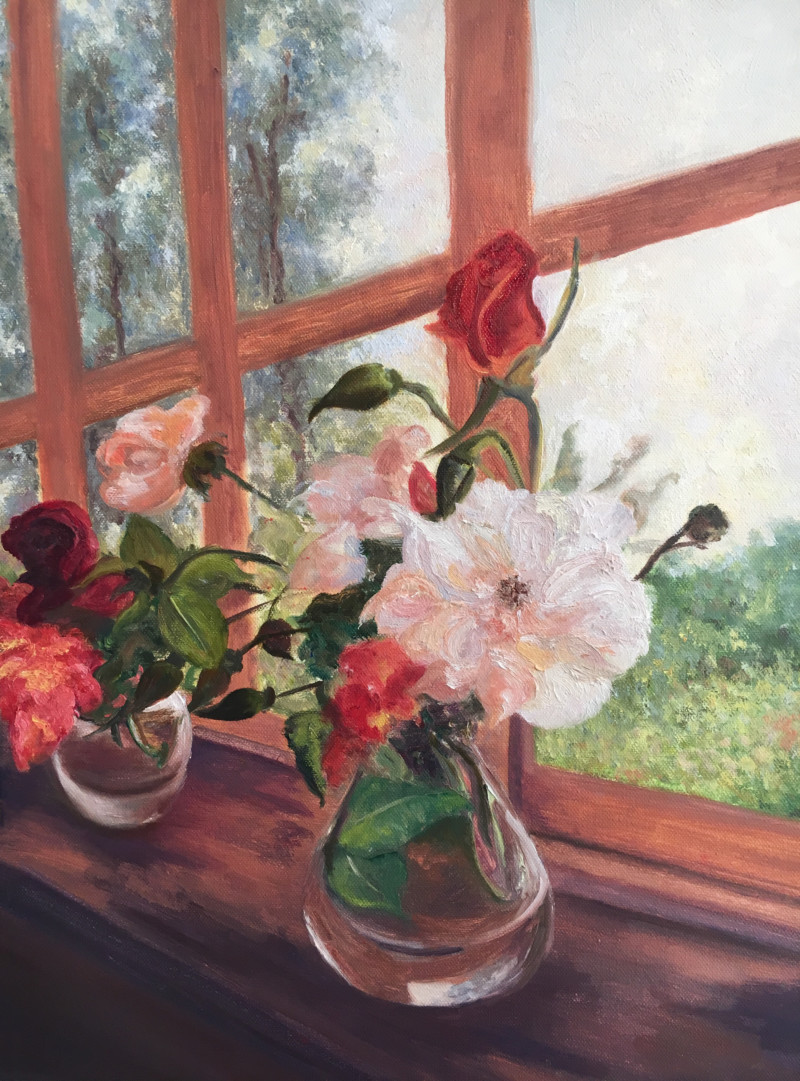 Garden Flowers on the Sill