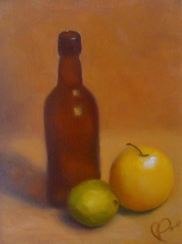 Bottle & Fruit