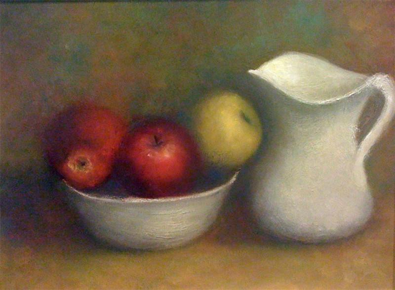 White Pitcher & Fruit