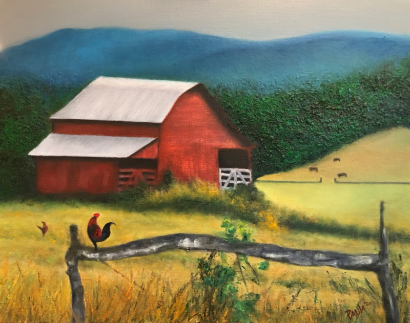 Red Rooster~Red Barn